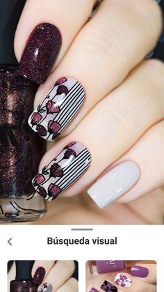 Funky Nail Art, Funky Nails, Red Nails, Diy Nail Designs, Acrylic Nail Designs, Gorgeous Nails, Pretty Nails, November Nails, Stylish Nails