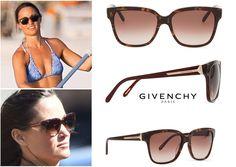 Givenchy- Square Tortoise Sunglasses, Burgundy