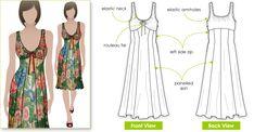 Sophia Dress (soft wovens)  Style Arc