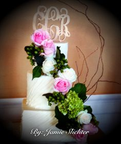 Buttercream with cascading florals