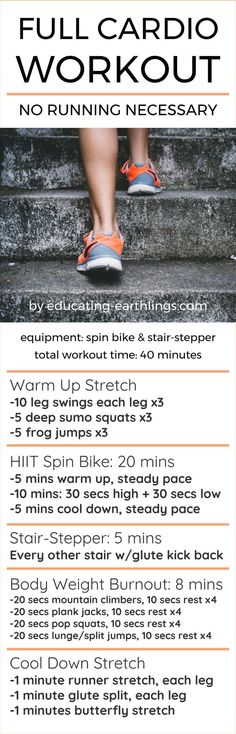 Full Cardio Workout - No Running Necessary!