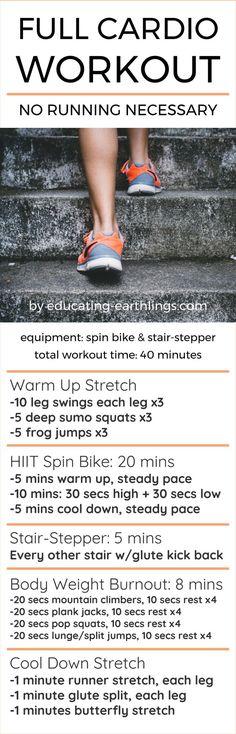 Full Cardio Workout - No Running Necessary!