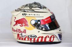 Sebastian Vettel's helmet  - F1 Grand Prix of Monaco: Practice