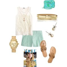 Casual chic, mint shorts
