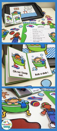 Free Sample of Bath Time Themed Interactive Apraxia Activities by teachingtalking.com