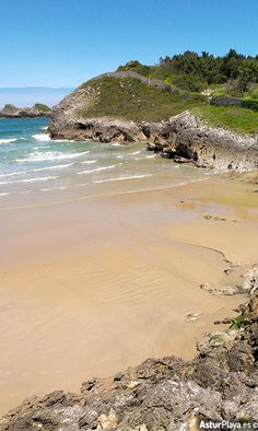 Las Cámaras or Los curas beach in Celorio, Asturias, Spain - this beach joins the famous Palombina beach with low tide creating thus a truly extended sandy area for you to enjoy :)