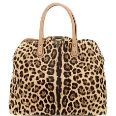 8510d7c7d2 Brown pony hair tote from Valentino featuring a leopard print
