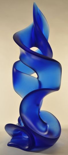 """Blue Tango"". Harry Pollitt. #glassart #artglass #artwork http://www.pinterest.com/TheHitman14/art-glasscrystal-%2B/"