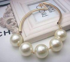 Resultado de imagen para de collares de moda super elegantes 2016 Pearl Jewelry, Diy Jewelry, Gold Jewelry, Unique Jewelry, Pearl Necklace, Jewelry Ideas, Jewlery, Handmade Jewelry, Jewelry Making
