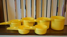 Vintage Tupperware Measuring Cups Set of 6 by AmyFindsEverything