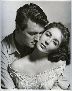 """"""" """""""" """" Rock Hudson & Elizabeth Taylor, publicity shot for Giant (George Stevens, 1956)"""