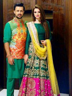 Atif aslam with his wife