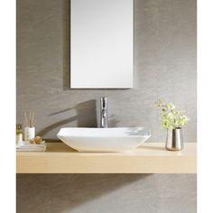 Fine Fixtures Modern Vitreous Rectangle Vessel Bathroom Sink                                                                                                                                                                                 More