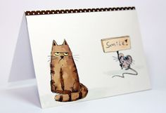 Katzelkraft stamps le chats russe, watercolored on Schut aquarel paper 300grams hot pressed and smooth paper. drew in the smile sign and added brown washi tape