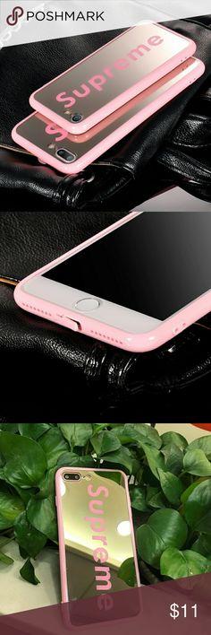 IPhone 7/ 7 Plus Pink supreme mirror case Flexible mirror case with pink supreme design. Accessories Phone Cases #iphone8pluscase,