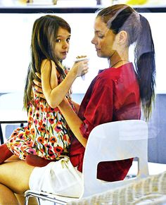 Katie Holmes and Suri Cruise on July 3, 2012 in New York City.