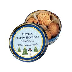 Personalized Holiday Cookie Tins - OrientalTrading.com