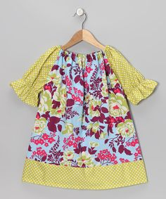 Look at this #zulilyfind! Purple Bouquet Peasant Dress - Toddler & Girls by Swag #zulilyfinds