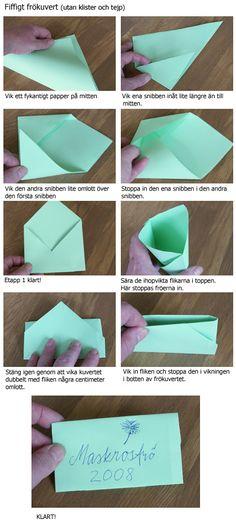 Gratulationskort: kort och kuvert i ett, version 1