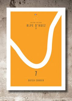 Alpe d'Huez Corner_Hairpin 7 by Lemaillot on Etsy Alpe D Huez, Hairpin, Biking, Dutch, Print Design, Cycling, Corner, Posters, Tees