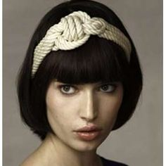 Unique Headband with white rope design and style