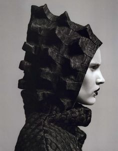 Bumpy Textures - hood with 3D surface pattern detail // Noi.se Editorial Furtive Fashions