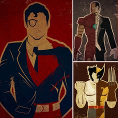 Movies ripped from the pages of comic books may be a Summer favorite, but the heroes you know know and love can be a focal point in your pad year-round. These Superhero alter ego posters ($18 and up) are unique, and give you a glimpse at your favorite.