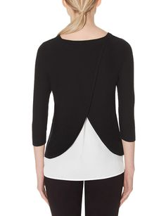 Layered Tulip Back Sweater