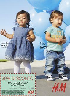 Scarica il coupon sconto del 20% da H&M, anche sui vestiti premaman, più promozione 3X2. | Mammarisparmio, risparmiare il mio mestiere FAI girare il risparmio, grazie!