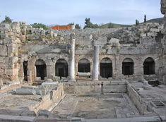The ancient Roman fountain, Corinth Roman Fountain, Ancient Romans, Lighthouse, Mount Rushmore, Taj Mahal, Greece, Italy, Vacation, Mountains
