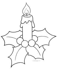 it - ​​Coloring designs for childrenCandle and poinsetta Christmas Applique, Christmas Embroidery, Felt Christmas, Christmas Colors, Christmas Crafts, Christmas Ornaments, Applique Templates, Applique Patterns, Colouring Pages