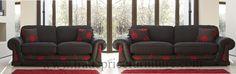 Tamara Fabric 3 + 2 Seater Sofa (Black/Red Floral)  https://www.tradepricefurniture.co.uk/tamara-fabric-3-2-seater-sofa-black-floral.html