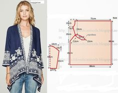 Diy idea how to make tutorial sew kimono jacket