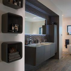 meuble de salle de bain poivre 140 cm ceylan castorama