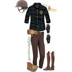 A fashion look from October 2014 featuring plaid blouse, water proof boots and bezel bracelet. Browse and shop related looks.