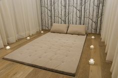 Thai Massage Room - mat is set into the floor to keep it in place