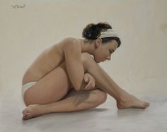 """Winner of the """"Centennial Prize"""" at Arnot Art Museum's 74th Regional Exhibition.  Title: 'Muse'  24x30 in.  Oil on linen.   By Jeff Perrault"""