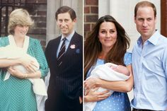 Kate Middleton's dress echoed Princess Diana's outfit when she showed off Prince William to the world