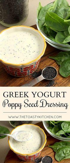 Greek Yogurt Poppy Seed Dressing by The Toasty Kitchen