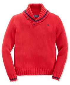 Ralph Lauren Boys\u0027 Tipped Shawl-Collar Sweater