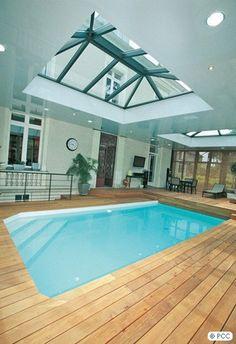 piscine int rieure sous v randa caron piscines piscine pinterest inspiration et v randas. Black Bedroom Furniture Sets. Home Design Ideas