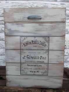 Distressed Grey Wood Trunk by TrueRootsDesigns on Etsy, $325.00