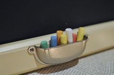 upsidedown drawer handle as chalk holder