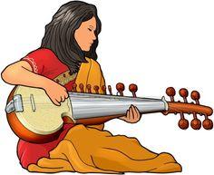 サロッド sarod。サロッドはインド(北部)の弦楽器。