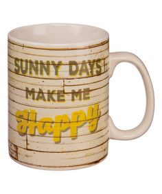 This 'Sunny Days' Mug is perfect! #zulilyfinds