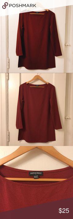 AMERICAN APPAREL SIDE SLIT DRESS✨ beautiful burgundy dress by American Apparel American Apparel Dresses Mini