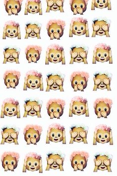 Monkeys! -wallpaper -emoji -background -iPhone -cute