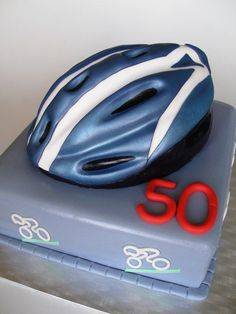 helmet cake Cycling Helmet, Bicycle Helmet, Bike Cakes, Dad Birthday Cakes, Sport Cakes, Horse Cake, Sculpted Cakes, Gift Cake, Cakes For Men