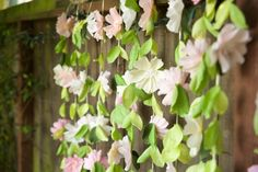 Make a Crepe Paper Flower Garland Backdrop