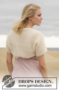 "Knitted DROPS shoulder piece in 2 strands ""Alpaca Silk"". Size: S - XXXL. ~ DROPS Design"